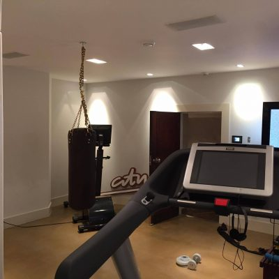 Gym with full electrical installation