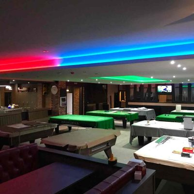 Electrical lighting design and installation @ The Ball Room Meadowbank