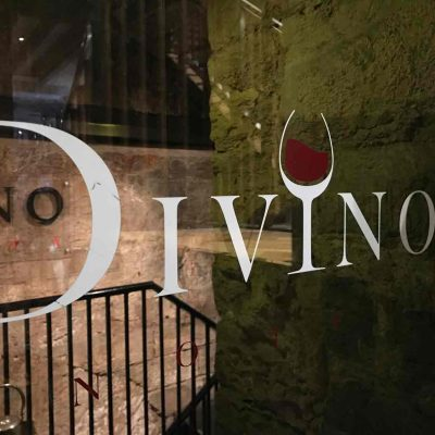 Divino Ernoteca Edinburgh window logo