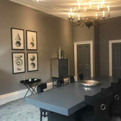 Chester Street Project  showing chandelier in dining room
