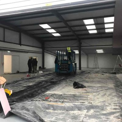 Complete electrical refit at Trinity Glazing Edinburgh Ltd., new unit