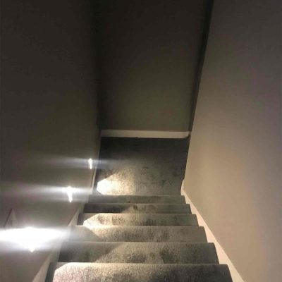 Low level wall lights going up stairs