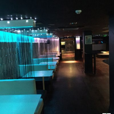 Chalkys nightclub illuminated bar lighting